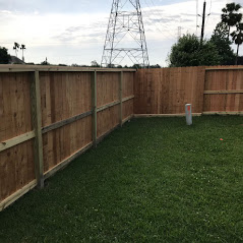 3 Rail Cedar Fence Inside