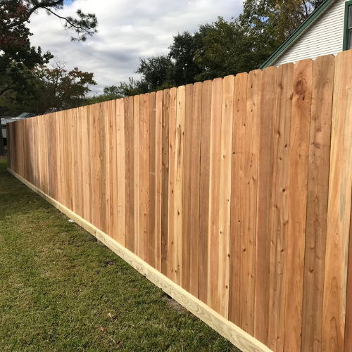 Cedar fence - Base Board