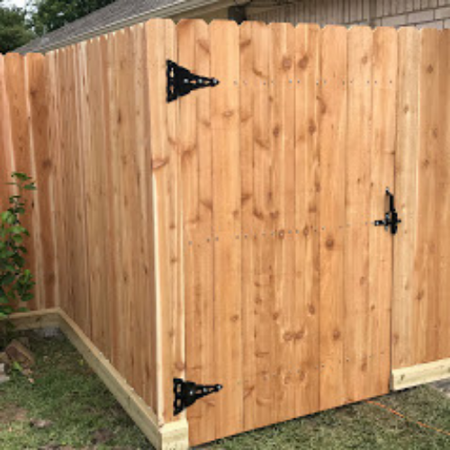 Wood Gate - Cedar Pickets